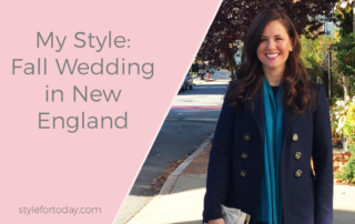 What to Wear to a Fall Wedding in New England from Style For Today